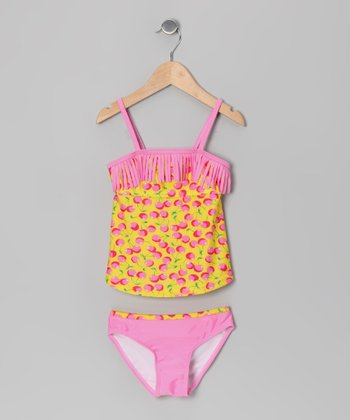 Yellow Cherry Tankini - Toddler
