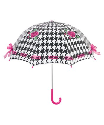 Black Houndstooth The English Roses Umbrella