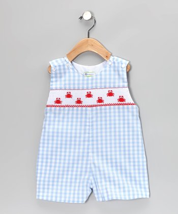Blue Gingham Crab John Johns - Infant