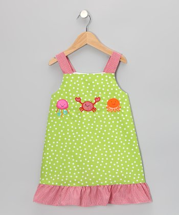 Green Sea Creature Ruffle Dress - Infant, Toddler & Girls
