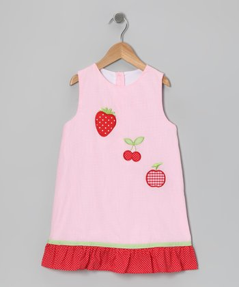Pink Fruit Swing Dress - Toddler & Girls