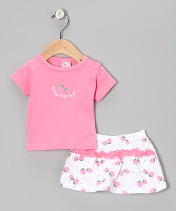 Pink 'Strawberry' Tee & Shorts
