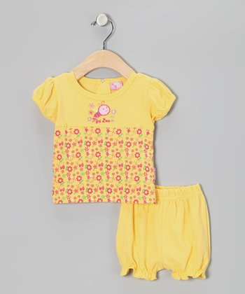 Yellow 'Mini Bee' Tee & Shorts