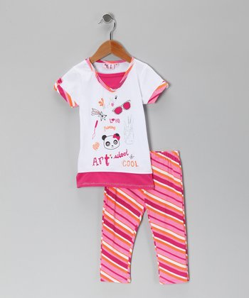 Pink Art Tunic & Leggings - Infant