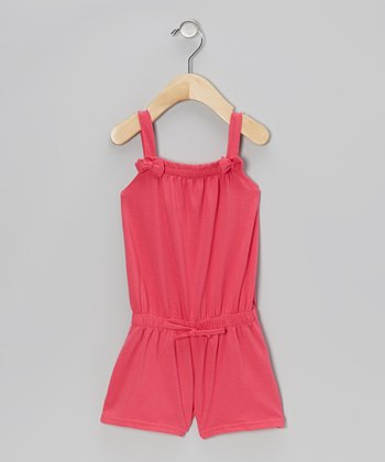 Pink Bow Romper - Infant, Toddler & Girls