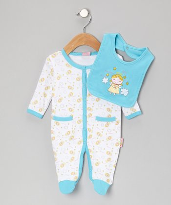 Blue 'Twinkle Twinkle' Footie & Bib - Infant