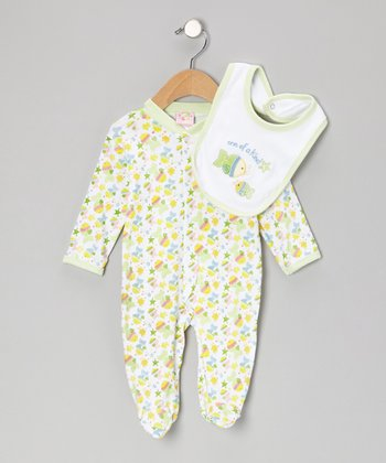Green 'One of a Kind' Footie & Bib - Infant
