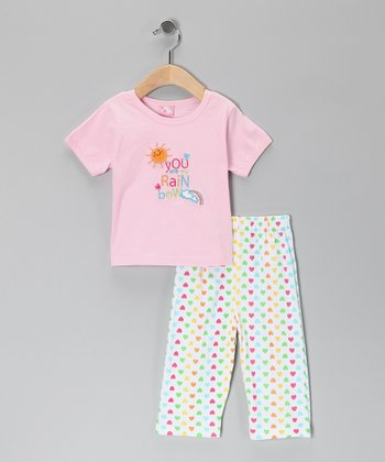 Pink Rainbow Tee & Pants - Infant