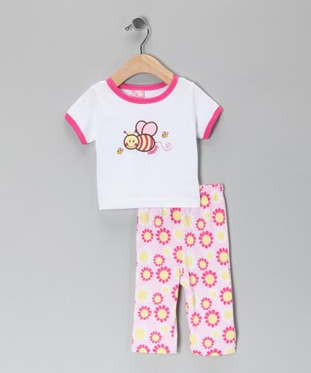 White Bee Tee & Pants - Infant