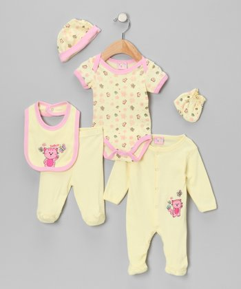 Yellow Cat Six-Piece Layette Set
