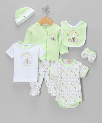 Green Ice Cream Layette Set