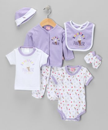 Purple Ice Cream Layette Set