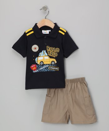 Navy Road Trip Polo & Shorts - Infant