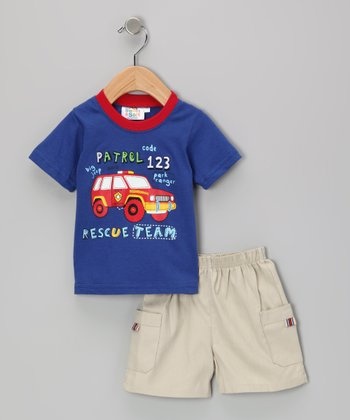 Blue Rescue Team Tee & Shorts