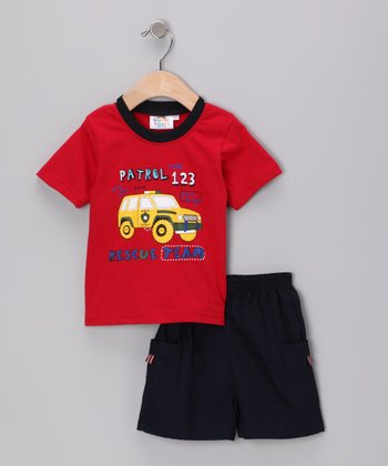 Red Rescue Team Tee & Shorts