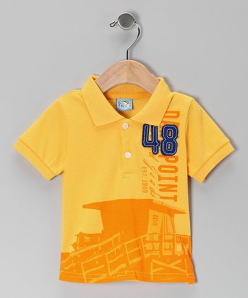 Yellow '48' Polo - Infant