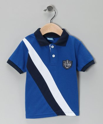 Blue Sash Stripe Polo - Infant