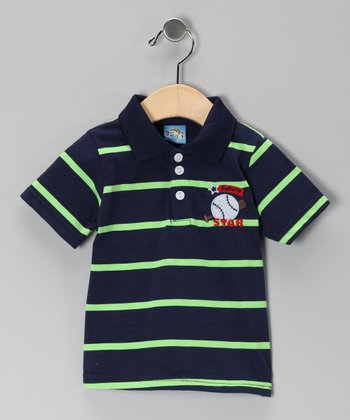 Navy Stripe Future Star Polo - Infant