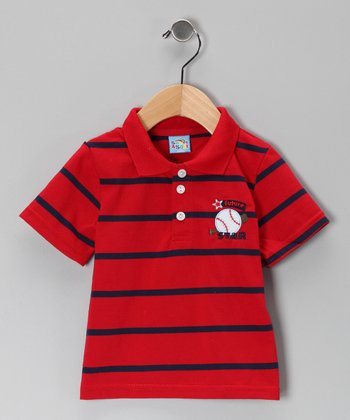 Red Stripe Future Star Polo - Infant
