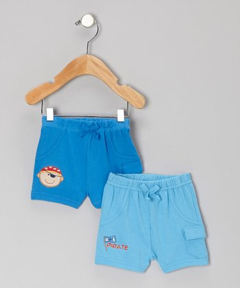 Blue Shorts Set - Infant
