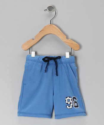 Blue '96' Terry Shorts - Infant