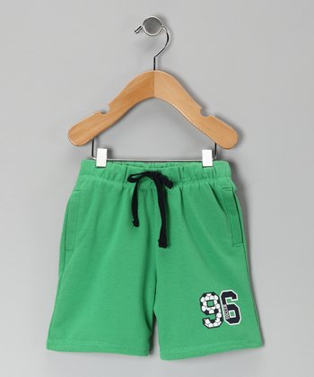 Green '96' Terry Shorts - Infant