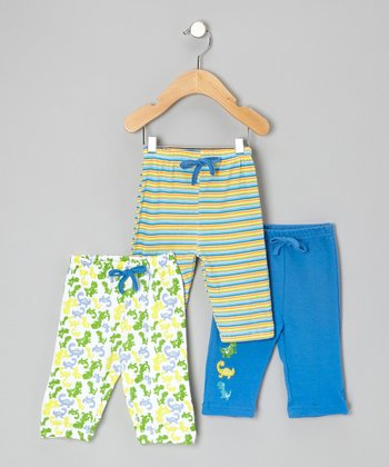 Blue Dinosaur Pants Set - Infant