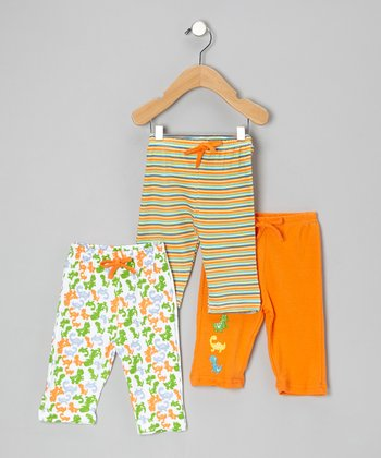 Orange Dinosaur Pants Set - Infant