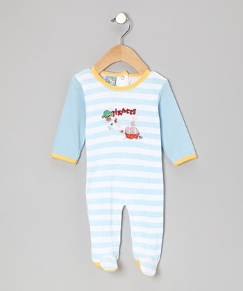 Blue Stripe 'Pirates' Footie - Infant
