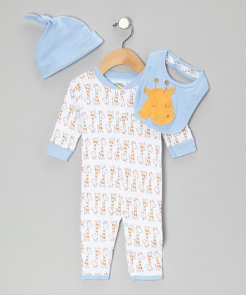 Blue Giraffe Playsuit Set - Infant
