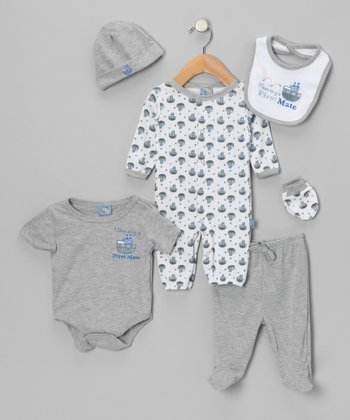 Gray Boat Layette Set