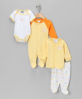Yellow Cow Pants Set