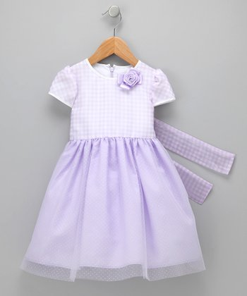 Purple Helen Dress - Infant & Toddler