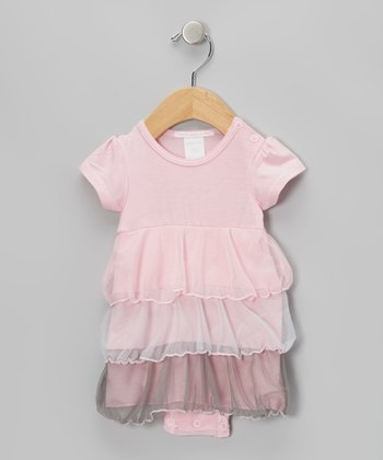 Pink Tier Skirted Bodysuit - Infant