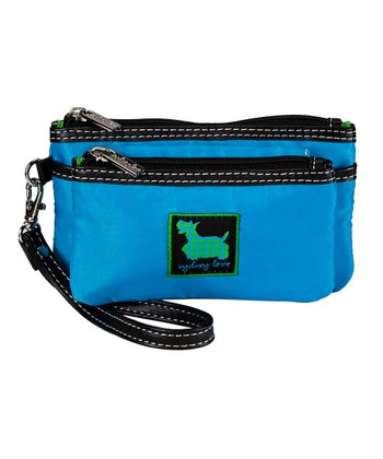Sydney Love Blue Double Pouch Wristlet