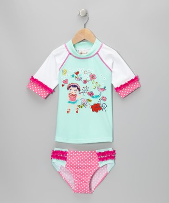 Lilac Doll Cutie Rashguard Set - Toddler & Girls