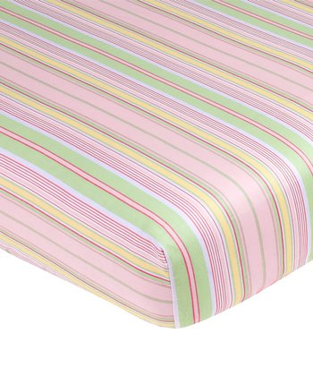 Blossom Stripe Fitted Crib Sheet