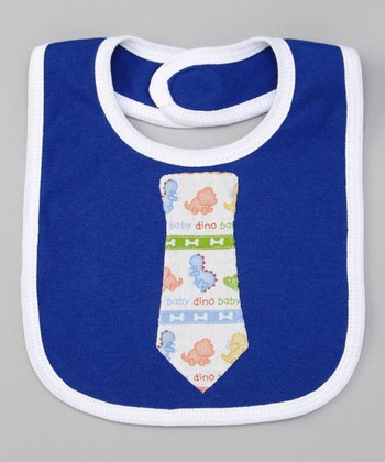 Royal Blue Dino Tie Bib