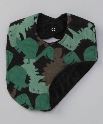 Green & Black Dino Bib