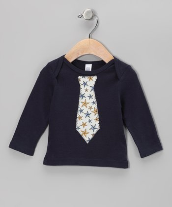 Navy Starfish Tie Tee - Infant, Toddler & Boys