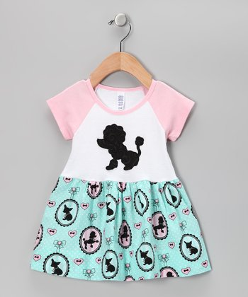 Pink Poodle Raglan Dress - Infant
