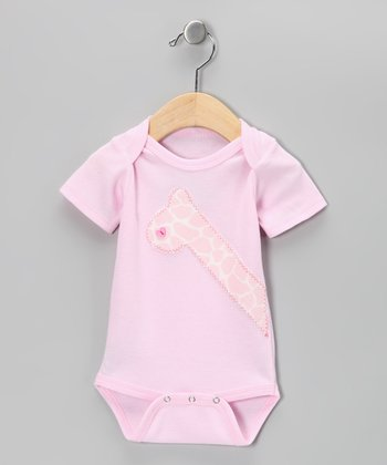 Pink Giraffe Bodysuit - Infant
