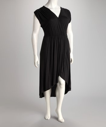 Black Hi-Low Dress - Plus