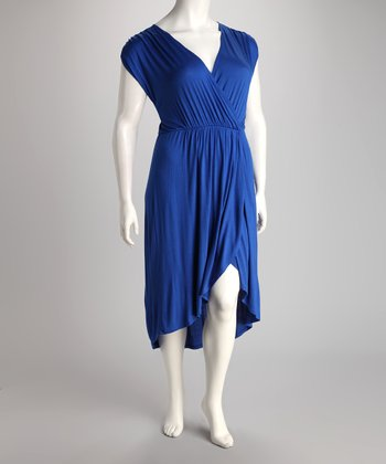 Royal Blue Hi-Low Dress - Plus