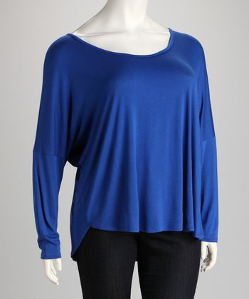 Royal Blue Dolman Top - Plus