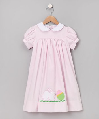 Pink Bunny Gingham Dress - Infant, Toddler & Girls