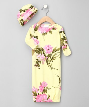 Palm Beach Floral Gown & Beanie