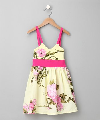 Palm Beach Floral Babydoll Dress - Infant & Toddler