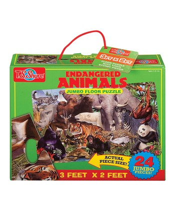 Endangered Animals Floor Puzzle