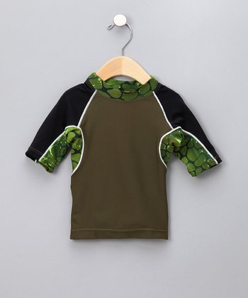 Sea Monster Green Onshore Rashguard - Infant, Toddler & Boys